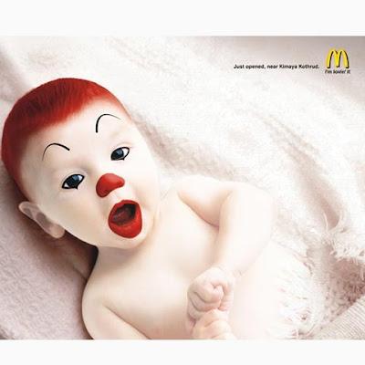 fotomontaje bebe payaso