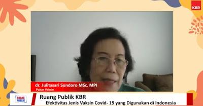 dr. Juliarti Sundoro, nara sumber diskusi vaksin KBR PMI