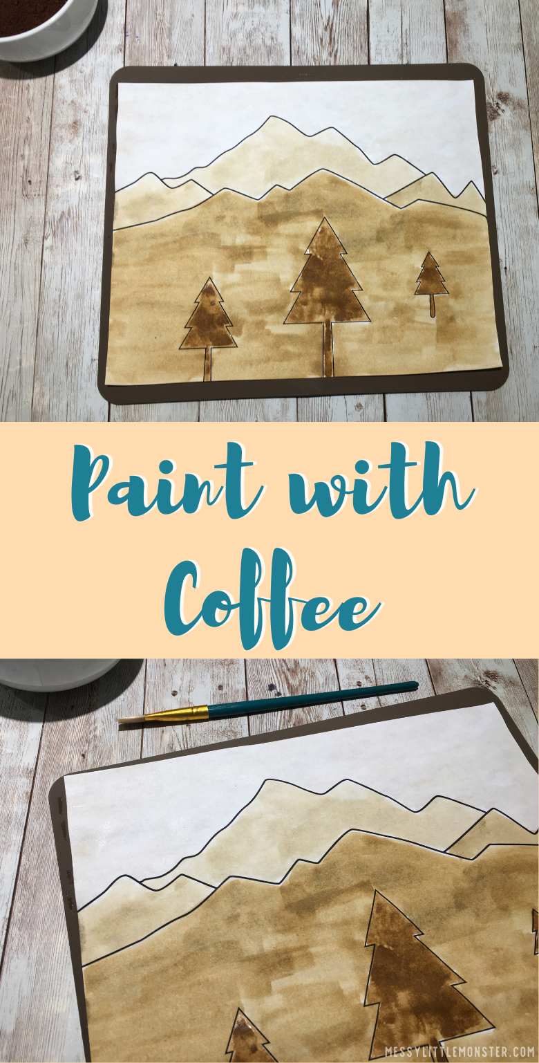 Paint with coffee. Elements of art. Value in art. Coffee art painting.