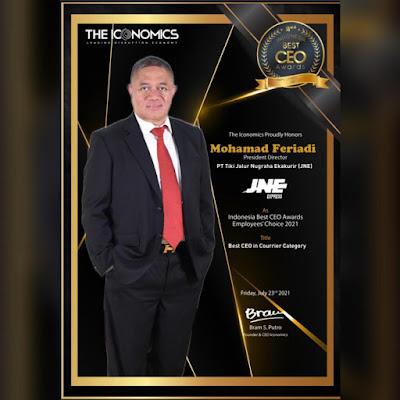 Feriadi Soeprapto Dinobatkan Sebagai Best CEO Award 2021