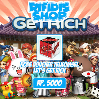 Voucher Telkomsel Lets Get Rich