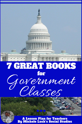 Reading novels or informational text in the Government classroom can be a great way to get your students engaged in your lesson. These seven books are a great start toward creating a more engaging and interactive classroom. I just love the first on on the list!