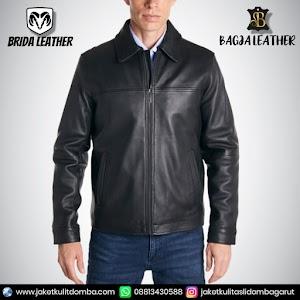 Jual Jaket Kulit Asli Garut Pria Domba Original Brida Leather B63 | WA 08813430588