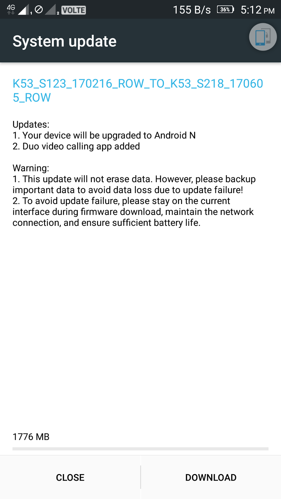 Lenovo K6 Note gets Android 7 0 Nougat Update