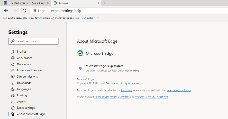 microsoft edge browser chromium