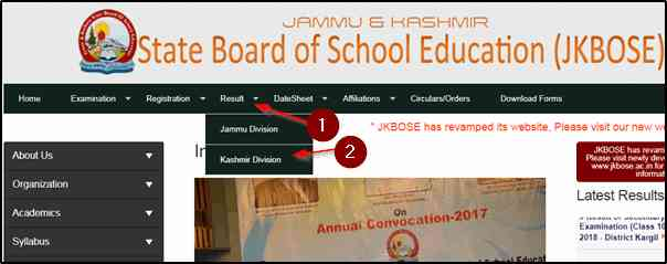 JKBOSE Class 12th result 2019, Jammu and Kashmir Board 12th Class Result 2019