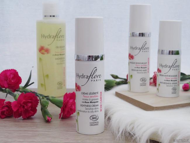 revue avis test hydraflore rose caresse soins