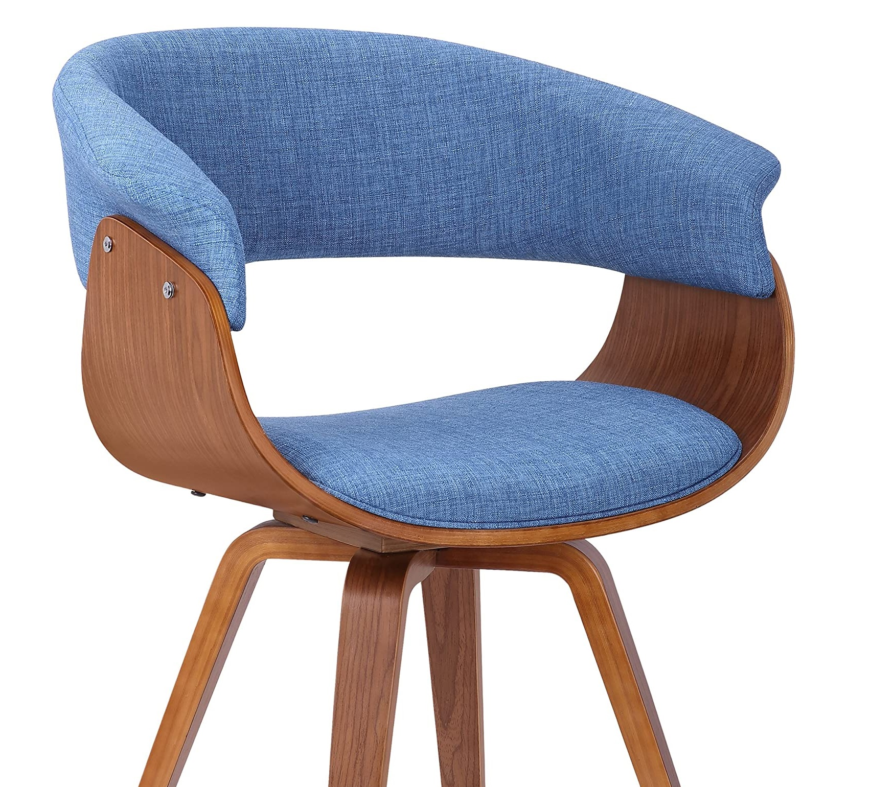 Best ideas Minimalist livingroom contemporary Chair with charcoal fabric and Walnut wood finish 3