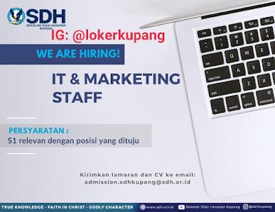 Lowongan Kerja Sekolah Dian Harapan Kupang Sebagai IT & Staff Marketing