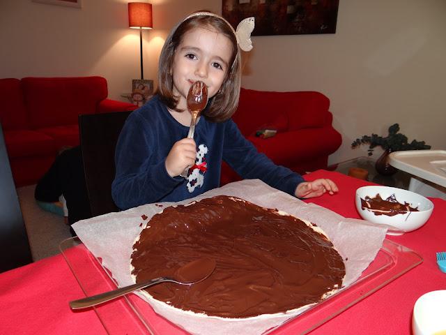Estrella de hojaldre y chocolate (o Nutella)