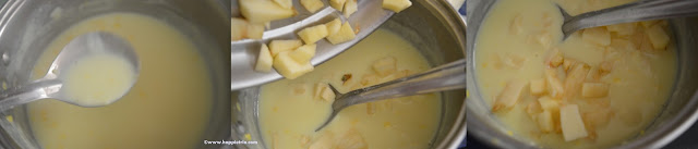 Step 4 how to prepare Apple Custard