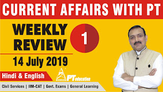Current Affairs, Weekly Review, CA with PT, Sandeep Manudhane, PT education, PT's IAS Academy