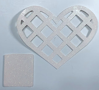 Glitter cutout for Valentine Candy Box