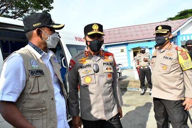 Kapolda Aceh Tinjau Pos Pelayanan Lebaran 2021 Polres Aceh Timur