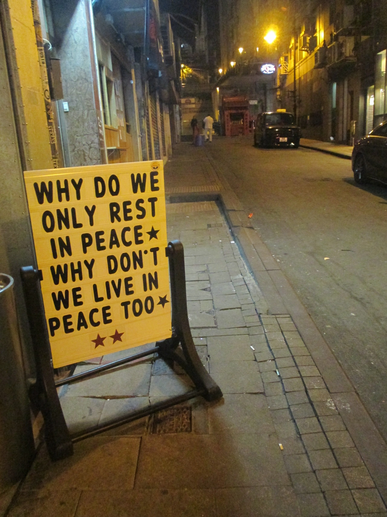 Why do we only rest in peace? Why don't live in peace too?