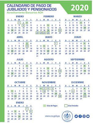 Calendario de pago de jubilados y pensionados Panamá