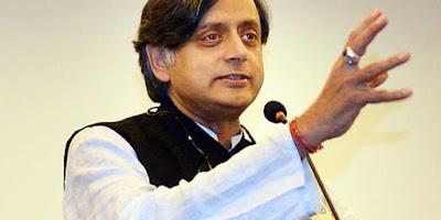 शशि थरूर का एक और विवादित बयान पूछा गांधी की प्रतिमा क्यों नहीं बनाई.