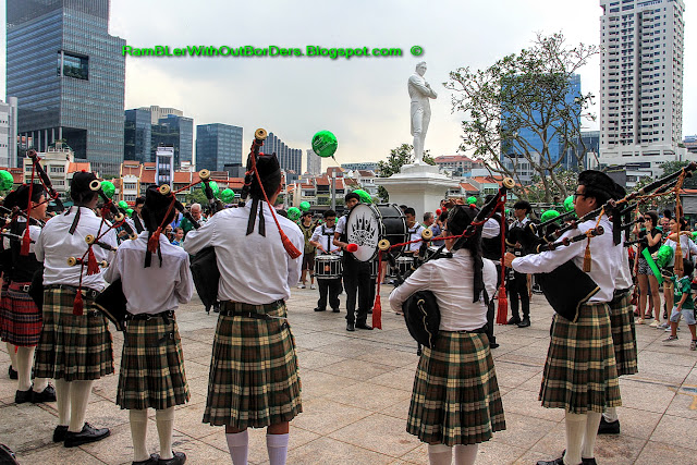 Pipe band, St Patrick's Day Street Festival, Singapore