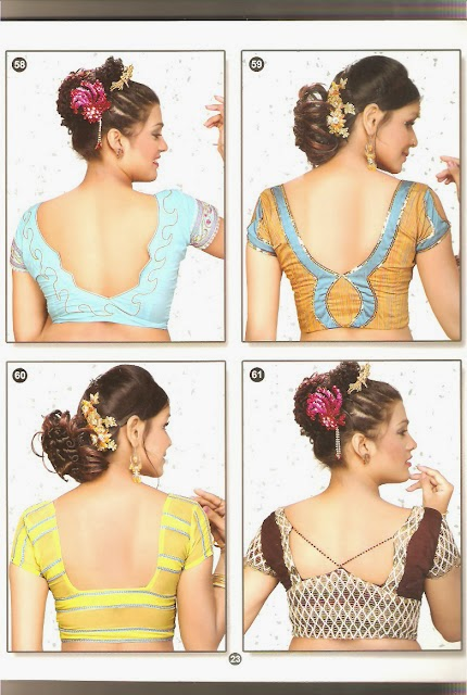 Latest Blouse Back Neck Designs Picture