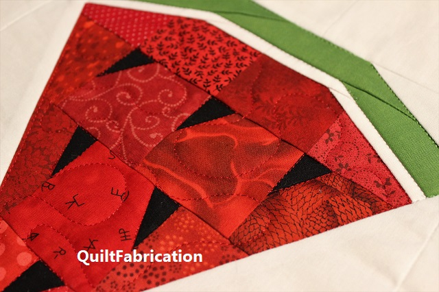 quilted Watermelon wedge