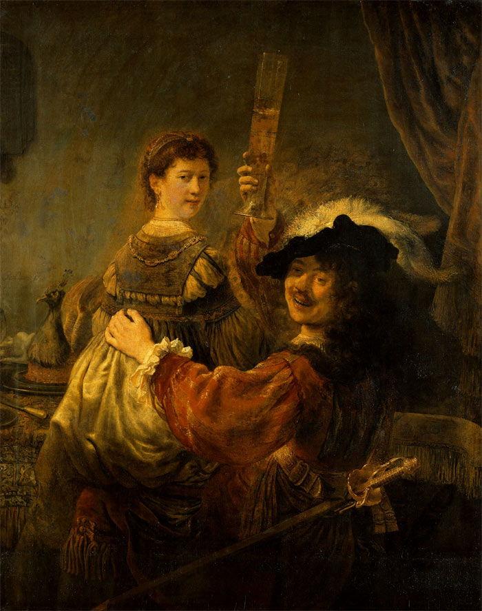Блудный сын в таверне. Рембрант