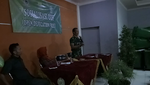 Peltu Syahril Jadi Narasumber Sosialisasi ODF Kelurahan Wates