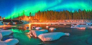 Aurora Borealis, iceland city