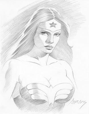 Wonder Woman portrait by Paul Abrams