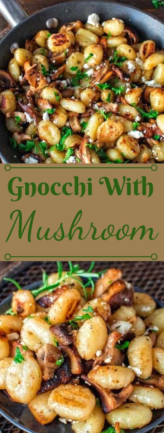 POTATO GNOCCHI WITH MUSHROOMS AND FETA #vegetarian #easy #recipes #food #potato
