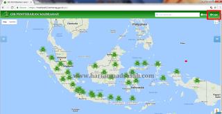 Cara Login Sistem Informasi Geografis Sebaran Madrasah