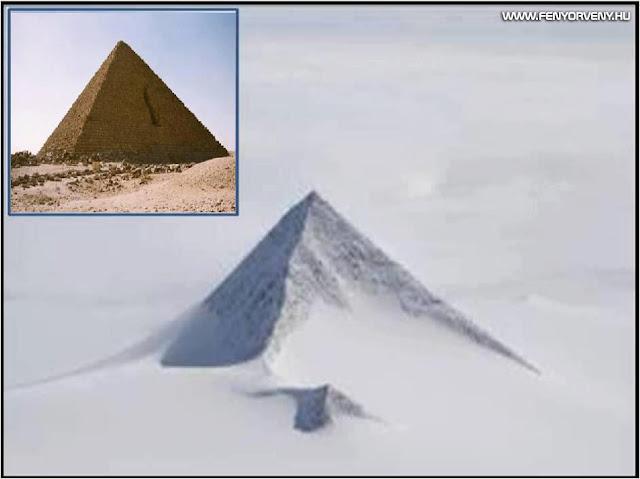 Hasonlóságok: Egyiptom-Antarktisz piramis