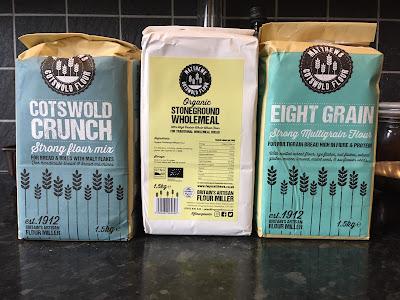 Three types of flour from Matthews