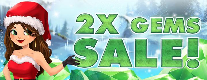 Vegas World's Christmas x2 Gems Sale!