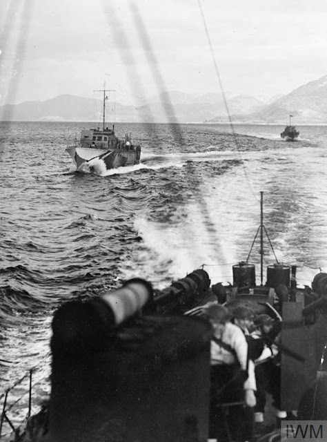 Royal Navy ships on maneuvers, 25 March 1942 worldwartwo.filminspector.com
