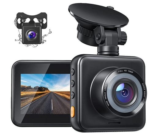 SUPERAPEMAN C420D Front and Rear Dual Dash Cam for Cars