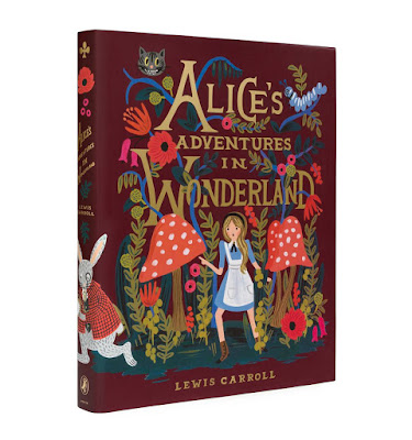 front cover of Anna Bond illustrated Alice in Wonderland edition