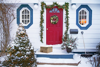 Front Door During Winter