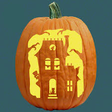 Haunted House Halloween Pumpkin Carving Ideas