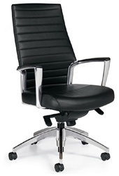 Global Accord Leather Conference Chair