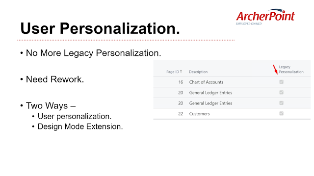 User Personalization - During Upgrade