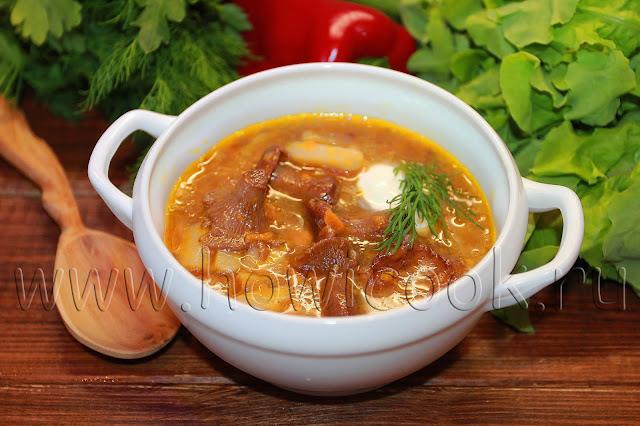 рецепт супа с лисичками