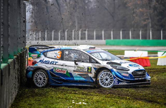 Esapekka Lappi and Janne Ferm in Ford Fiesta WRC Monza Rally