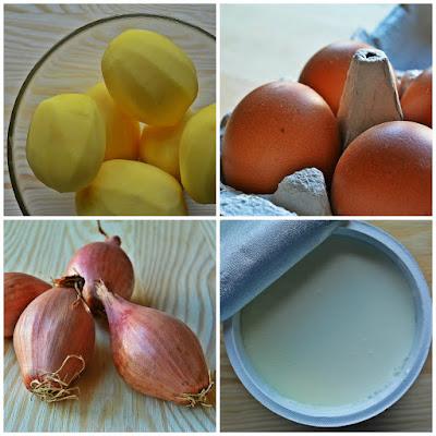 Wielkanocna sałatka z jajkami i ziemniakami - składniki