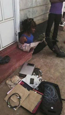 Photos: Kenyan prostitute caught stealing her client's valuables after drugging him