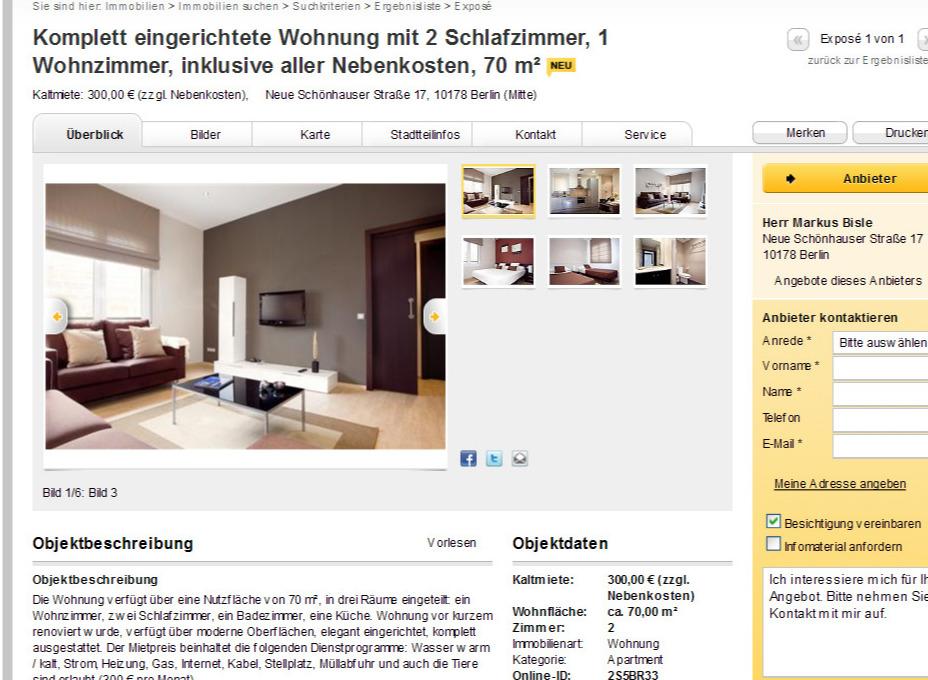 Wohnungsbetrugblogspot Komplett Eingerichtete Wohnung Mit