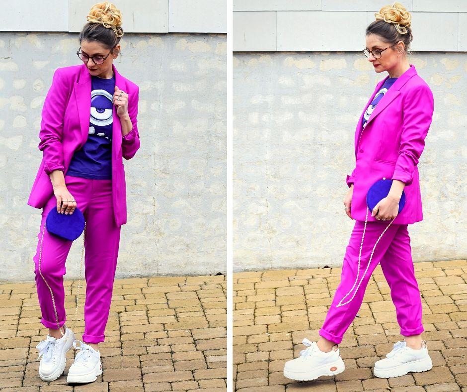 Violett-Pink-Hosenanzug-Frauen