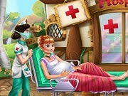 Frozen Anna Birth Care is a free online game for girls on GamesGirlGames.com. In the kingdom of Arendelle a new princess is about to appear and she needs your help to take care of pregnant Anna. Go to the hospital and tend to the newly born princess to find out her blood type and weight, clean her up, make sure you feed her and she will be ready to take her first nap.