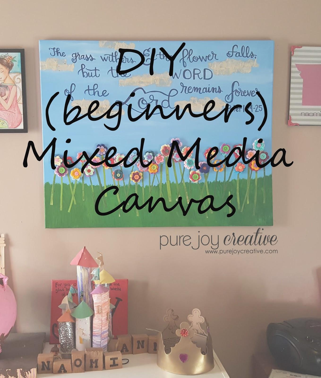 Diy beginners mixed media canvas a glimpse inside for Mixed media canvas art ideas