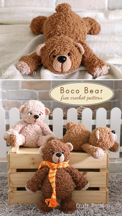 Boco Bear Amigurumi - Free Pattern