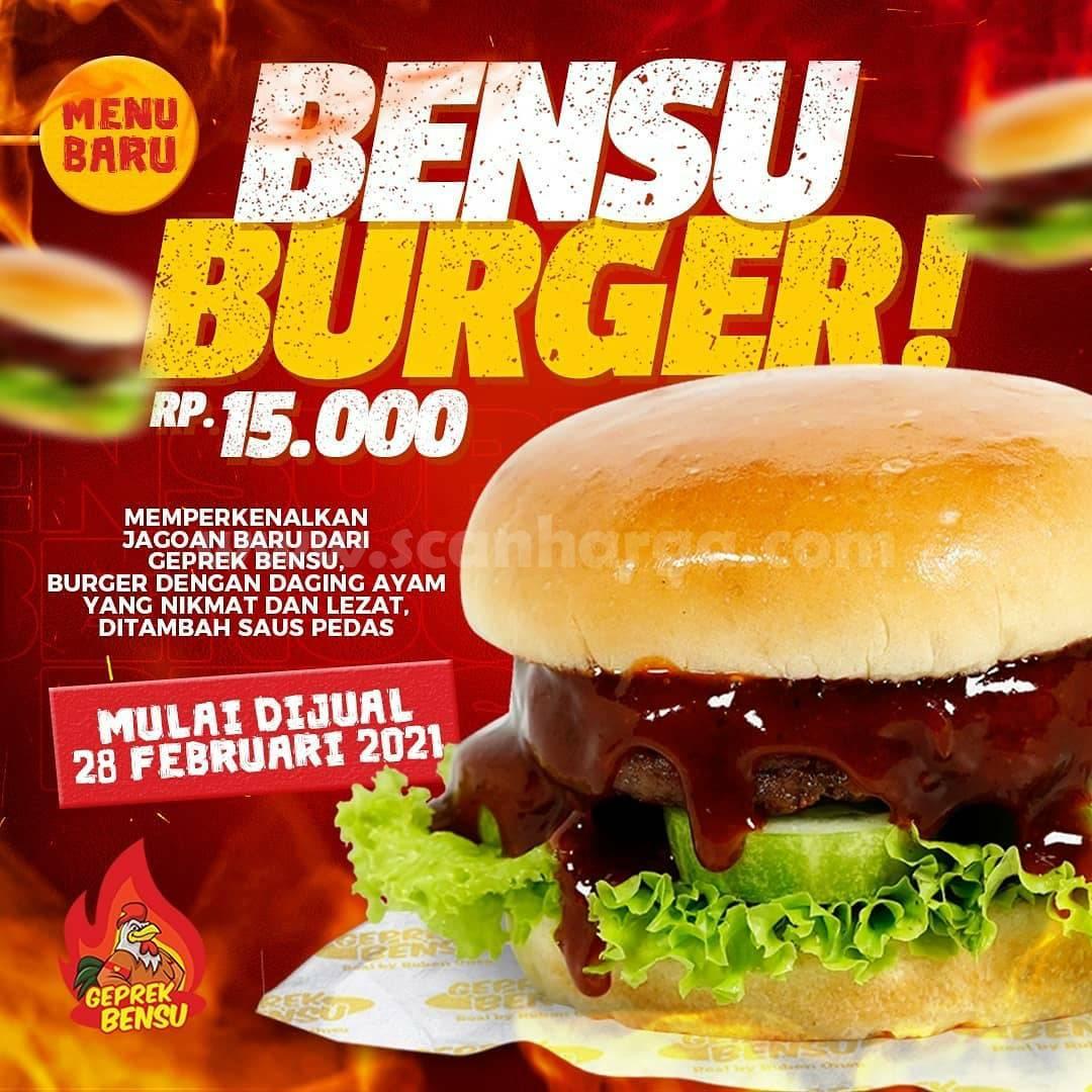 BENSU BURGER dari GEPREK BENSU harga cuma Rp 15.000